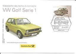 VW Golf I, Ersttagsbrief EB-Team Wolfsburg, Auflage 1500 Stück - Automobili