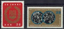 DDR 1965 - MiNr 1115-1116 - Deutscher Gewerkschaftsbund (FDGB) - Ungebraucht