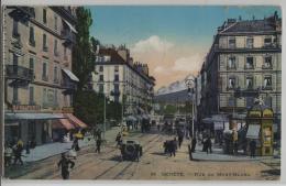 Geneve - Rue Du Mont-Blanc - Animee - Oldtimer, Cafe De La Poste, Maggi - GE Genf