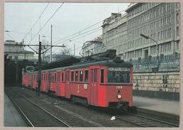 Wiener Stadtwerke-Verkehrsbetriebe - Triebwagen N1,  Beiwagen N2 Station Margaretengürtel März 1974 - Trains