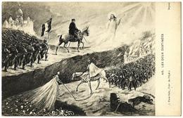 CPA LES DEUX DESTINEES Caricature Satire Allégorie Militaria Guerre 14-18 Bibikoff Français Victoire Allemands Mort WW1 - Weltkrieg 1914-18