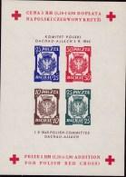 Dachau 1945 Sheetlet Imperf Watermark No Gum - Liberation Labels