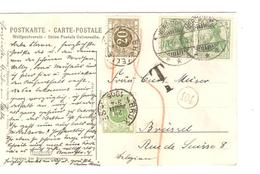 TP Germania C.Norderney 27/7/1905 Gff T V.BXL Taxée 25 C Pat TTx 3-6 C.BXL 28/5/1905 451 - Taxes