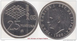 SPAGNA 25 Pesetas 1981 (FIFA World Cup Of Spain) KM#818 - Used - [ 5] 1949-… : Regno