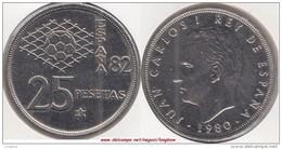 SPAGNA 25 Pesetas 1981 (FIFA World Cup Of Spain) KM#818 - Used - 25 Pesetas