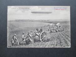 AK 1915 Feldpost 1. WK. Zeppelin. Artillerie In Gefechts-Stellung. Das Deutsche Heer. Kriegsschauplatz. BHC Nr. 1639 - Dirigibili