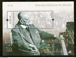 Portugal ** & Great Musicians Of The World, Jean Sibelius 2015 (7688) - Nuovi