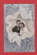 Carte De Mariage Avec Relief En Tissus - Cartes Postales