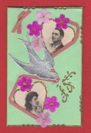 Carte D Anniversaire Avec Relief En Tissus --  1916 - Cartoline