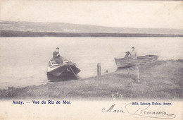 Amay - Vue Du Riz De Mer (Edit. Léonce Hubin, Animée, Barques, 1903, Passeurs D'eau ?) - Amay