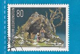 2000 LIECHTENSTEIN FRANCOBOLLO USATO STAMP USED - Natale 80 - Liechtenstein