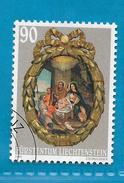 2001 LIECHTENSTEIN FRANCOBOLLO USATO STAMP USED - Natale 90 - Liechtenstein