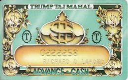 USA, Trump Taj Mahal Casino Resort, Atlantic City - New Jersey, Magnetic Casino Card - Cartes De Casino