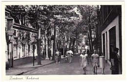 Zandvoort - Kerkstraat Met Volk - Zeer Oud - Zandvoort