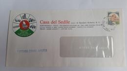 ITALIA 1984 - (828) CASTELLI L. 350 USO ISOLATO SU FATTURA COMMERCIALE APERTA - 1981-90: Storia Postale