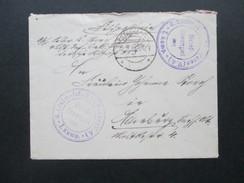 1.WK Feldpostbrief 1918 4. Ldstm. Inf. Batl. Posen (V.4.) 1. Kompagnie. Westpreussen. Heute Polen - Allemagne