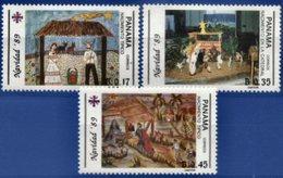 PANAMA, 1989, CHRISTMAS, YV#1062-64, MNH - Panama