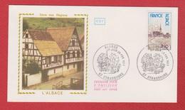 Enveloppe Premier Jour   / Série Des Régions / Alsace / Strasbourg /  26 - 02 - 77 - 1970-1979