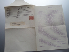 Auto-Electric BEX, CASTEELS & Cie Bruxelles ( Zie Foto's Voor Detail / Drukwerk ) Anno 1925 ! - Publicités
