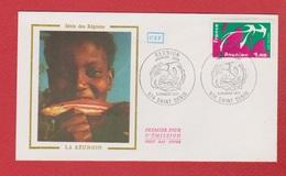 Enveloppe Premier Jour   / Série Des Régions / La Réunion / Saint Denis /  5 - 02 - 77 - 1970-1979