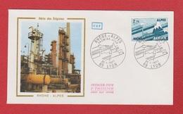 Enveloppe Premier Jour   / Série Des Régions / Rhône Alpes / Lyon /  22 - 01 - 77 - 1970-1979