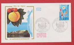 Enveloppe Premier Jour   / Série Des Régions / Languedoc Roussillon / Montpellier  /  15 - 01 - 77 - 1970-1979