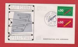Enveloppe Premier Jour   / Code Postal  / Paris  /  3 - 06 - 72 - 1970-1979
