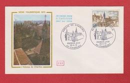 Enveloppe Premier Jour   / Série Touristique Abbaye De Charlieu  / Charlieu  /  29 - 4 - 72 - 1970-1979