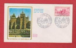 Enveloppe Premier Jour   / Cathédrale De Saint Brieuc /  20 - 5 - 72 - 1970-1979