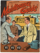 1952 French Version Caterpillar N° 12 112 212 Motor Graders Comic Brochure Maintenance Guide - 20 Pages - 4 Scans - Transports