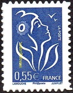 France Autoadhésif N°   53 D ** Ou 3802_D Marianne De Lamouche - Légende Phil@poste 0.55 Eur. Dentelé 4 Cotés - Francia