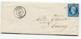 EURE De VERNON PC 3533 Sur N°14 Sur LAC De 1857 - 1849-1876: Classic Period