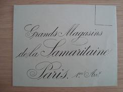 ENVELOPPE GRANDS MAGASINS DE LA SAMARITAINE PARIS - Andere