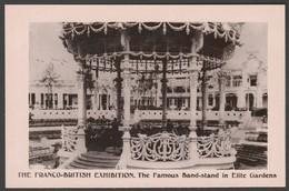 Band-stand In Elite Gardens, Franco-British Exhibition, 1908 - Davidson Bros RP Postcard - Exhibitions