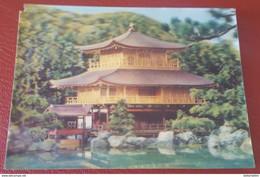 KYOTO - KINKAKUJI TEMPLE - Stereo Postcard - 3D Japan - Cartoline Stereoscopiche