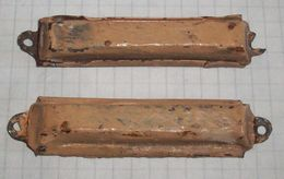 Antique Jewish Mezuza Mezuzah - Pair From One House - Early 20 Cent.- Poland Judaica Pre-Holocaust (not Opened) - Religion & Esotericism