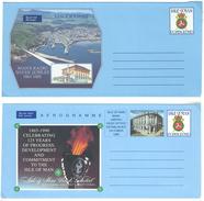 Isle Of Man, 2 Aerogramme **, 1989: Manx Radio Jubilee, 1990: 125 Years  Of Progress... - Man (Insel)