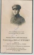Guerre 40-45 - Décès Emmanuel COMTE De BEAUFORT Né à Bruxelles Le 18-3-1912 Tombé à CANNE-EBEN-EMAEL Le 10 Mai 1940 - Obituary Notices