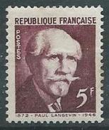 France - YT 820 - Paul Langevin (1949) NEUF AVEC TRACE DE CHARNIERE - France