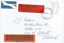 South Africa RSA 2000 Cape Town Meter Franking PO3.2. Olivetti ATM EMA FRAMA Barcoded Registered Cover - Frankeervignetten (Frama)