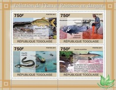TOGO 2011 - Water Pollution - YT 2380-3; CV = 17 € - Pollution