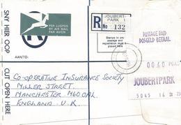 South Africa RSA 1975 Joubert Park Meter Franking PO5.1 ATM EMA FRAMA Registered Cover - Frankeervignetten (Frama)