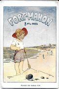 PUBLICITE  FORT MAHON 80 SOMME 3 H DE PARIS PLAGE DE SABLE FIN ILLUSTRATEUR ENFANT  TARIFS AU VERSO - Werbepostkarten