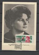 USSR Russia 1964 Space Valentina Tereshkova Commemorative Postcard - Russia & URSS