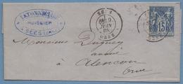 LSC Sées Orne T18 1883 Par Sage > Alençon TB - Marcophilie (Lettres)