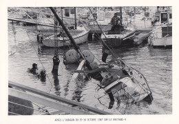 CPM Neuve ETEL - Renflouement Dans Le Port De Plaisance - Ouragan 1987 Sur La Bretagne - Tirage 150 Ex. - Etel