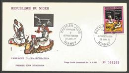 Niger 1977 390 FDC Alphabétisation - Niger (1960-...)