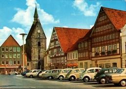 ! Ansichtskarte Aus Stadthagen, Autos, Cars, VW Käfer, Volkswagen, PKW, KFZ, Automobiles - KFZ