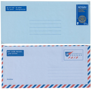 Guernsey, 2 Aerogrammes **, Rotary 1973 + Air Letter Postage  Paid - Guernsey