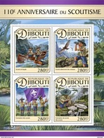 DJIBOUTI 2017 - Scouts, Mushrooms. Official Issue - Paddestoelen